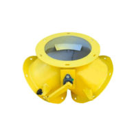 Клапан перекидной симметричный круглый ручной КПС